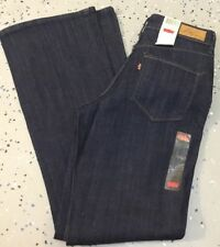 NWT WOMENS LEVIS BOLD CURVE BOOT CUT JEANS $60 DARK BLUE