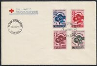 Germany occupation of Serbia 1941 For our prisoners, FDC letter E left and right