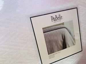 New Piu Belle Queen WHITE MATELASSE Diamond Pattern Quilt Coverlet 92x96 Cotton