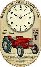 HeLa D 254 Schlepper Oldtimer Retro Wanduhr Traktor Geschenk Deko Lanz