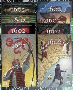 Marvel 1602 #1-8 2003 Marvel Comics Neil Gaiman Kubert Complete 1st printing