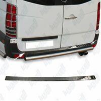 Mercedes Sprinter W906 06-17 Chrome Rear Bumper Protector Scratch Guard S.Steel