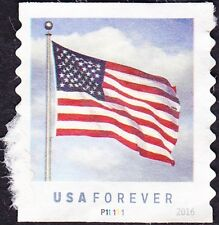 US - 2016 - United States Flag Forever Stamp Issue #5053 Plate #Single #P11111