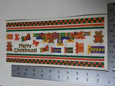 STAMPING STATION CHRISTMAS BORDERS PRESENTS BEARS STICKERS SCRAPBOOKING A3176