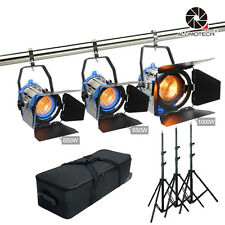 Pro film Dimmer Built-in 650WX2+1000W  Fresnel Tungsten Spot light+case+standX3