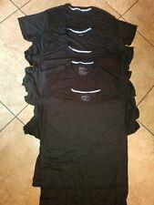 Lot Of (5) Men's Black Hanes X-Temp 40% Polyester 60% Rayon Shirts Size M