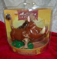 Disney's The Lion King Timon and Pumbaa Vinyl Bank by Enesco New Old Stock