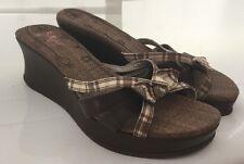 Jelly Pop ETTA Size 8 Medium Wedge Open Toe Sandals Dark Brown These Are So CUTE