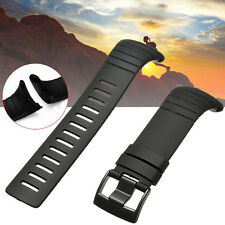 Black Rubber Watch Band Strap Wristband Replacement+Clasp For Suunto Core NEW **