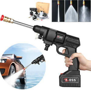 24V Portable Cordless Car High Pressure Power Jet Washer Water Wash Cleaner