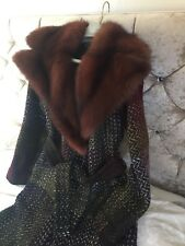❤️ DOLCE & GABBANA RUSSIAN SABLE FUR TWEED JACKET UK SIZE 10 / 38 COLLECTABLE