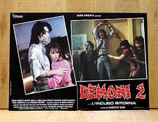 DEMONI 2 fotobusta poster Lamberto Bava Dario Argento Zombi Horror 1986 BX38