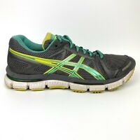 Asics Gel-Neo 33 Womens Sz 8 Gray Green Yellow Running Training Shoes T272N