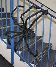 "HUGE 50"" GIANT FURRY SPIDER TARANTULA BLACK BENDABLE HALLOWEEN DECORATION PROP"