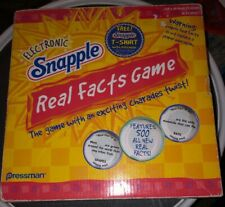 2004 Electronic Snapple Real Facts Game Pressman 500 Fun Facts Bottle Charades
