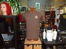 (W) Locally Grown & Raised Lowes Foods brown medium t-shirt, grocery chain