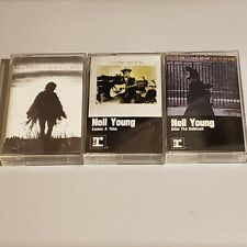 Neil Young Cassette Lot - After The Goldrush / Harvest Moon / Comes A Time EUC