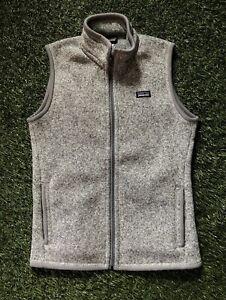 Patagonia Fleece Vest Women's M SP15 Gray Zip Up