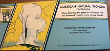 Vintage Blotter Postcard Old Faithful Carpenter Paper Co Oklahoma City