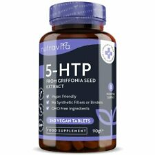 5HTP 400mg High Strength - 240 Tablets from Griffonia Seed - Sleep, Mood Support