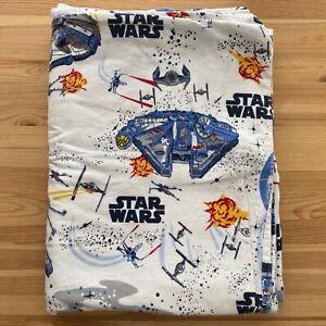 POTTERY BARN KIDS Star Wars Flannel Twin Duvet Cover