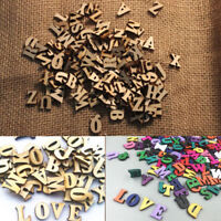 100Pcs Wooden Embellishments Letters Craft Card Making Scrapbooking Alphabet DIY