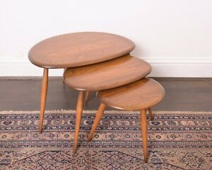 Ercol Pebble Nest Of Tables In Golden Dawn DELIVERY AVAILABLE