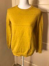 Harper Lane Women Small Pullover Sweater Long Sleeve Crew Neck Mustard
