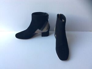 Michael Kors Black Suede Ankle Boots with Back Zip, Size: UK 5    US 7.5 M