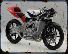 Honda Nsf250R Moto3 A4 Metal Sign Motorbike Vintage Aged