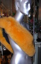 EXQUISITE Hard To Find YELLOW Fox Fur COLLAR Custom Made $2500. VOLPE MEXA