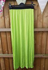 Boohoo Georgous Lime Green Long Skirt 12 BNWOT