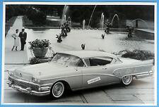 "12 By 18"" Black & White Picture 1958 Buick 2 Door Hardtop"