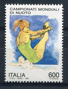 ITALIE 1994, timbre 2061, SPORT, CHAMPIONNATS du MONDE de NATATION, neuf**