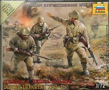 Zvezda 1/72 Figures Soviet Infantry 1941 - 1943 Z6103