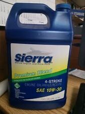 Sierra Marine oil, 4-Stroke Outboard Engine Oil, 10W-30,  1 Gallon