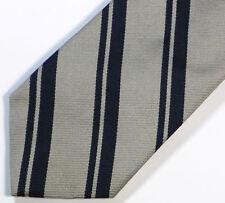 """Silver Blue Striped Silk Tie 3.3"""" Wide 57"""" Long"""
