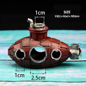 Submarine Decorative Ornament Aquarium Resin Fish Tank Shrimp Landscape Kits