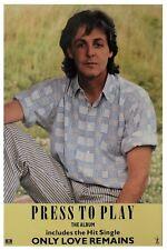Paul McCartney 1986 Press To Play Poster (UK)