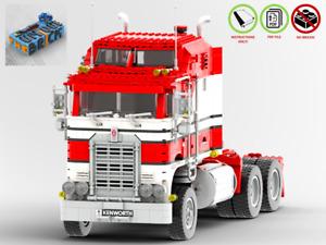 Kenworth Truck - CUSTOM MOC - PDF Instructions Manual - Suitable for LEGO