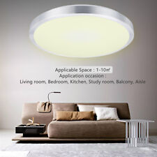 Cool White Warm LED Oyster Ceiling Light Dining Room Bathroom Living Room 12-24W