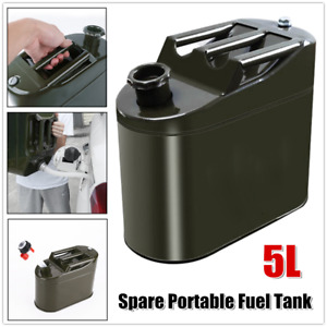 1×Spare Portable Fuel Tank Vertical Barrel Petrol Oil Container Can Storing Oil