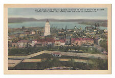 S20 VINTAGE QUEBEC CITY VIEW POSTCARD ST LAWRENCE RIVER PHOTOGELATINE OTTAWA