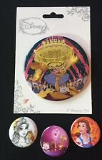 Beauty And The Beast Button & Badge Pin Lot # 2