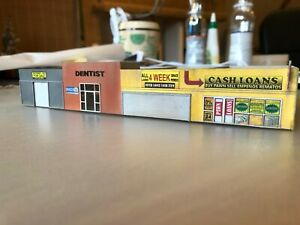 N scale Laser cut modern merchant's row, stores