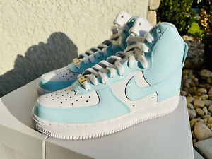 🔥🔥 Nike Air Force 1 High Custom - Icy 🥶 Blue - All Sizes Available