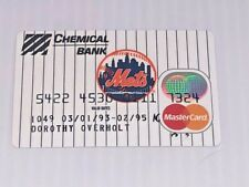 New York Mets NY vintage credit card for collector purposes MasterCard G25