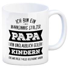 Ich bin ein wahnsinnig stolzer Papa - Kaffeebecher Vatertag Kaffeetasse Tasse