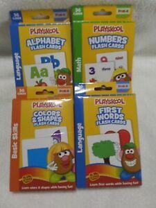 Playskool Mr. Potato head Flash Cards set of 4 NEW