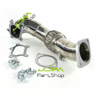 Stainless Steel Turbo Exhaust Downpipe Decat Pipe for Mazdaspeed 3 2.3L 07-13